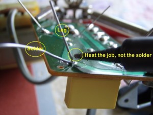 Brother Knitting Machine Repair 13 - Solder