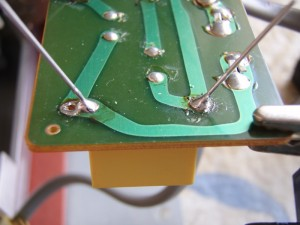 Brother Knitting Machine Repair 14 - Soldered