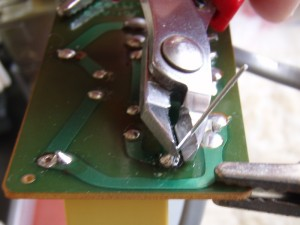 Brother Knitting Machine Repair 15 - Trim Legs